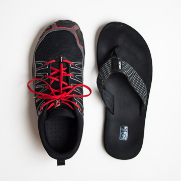 Inov8 shoes and teva sandals
